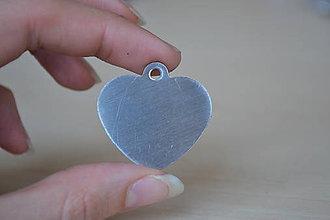 Komponenty - Prívesok srdce chirurgická oceľ 34mm, 1.8€/ks - 8666053_