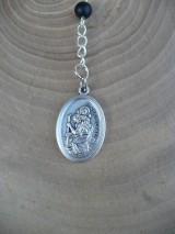 Iné šperky - ochranný ruženec do auta so sv. Krištofom - 8668248_