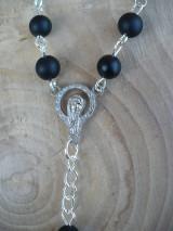 Iné šperky - ochranný ruženec do auta so sv. Krištofom - 8668250_