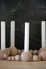 Svietidlá a sviečky - Drevený svietnik - 8669479_