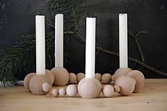 Svietidlá a sviečky - Drevený svietnik - 8669482_