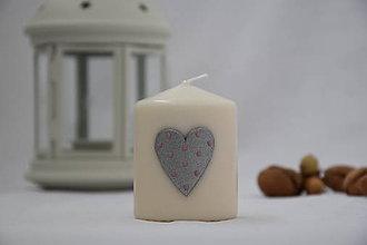 Svietidlá a sviečky - sviečka so striebornou hviezdou - 8671016_