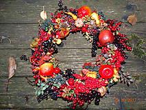 Dekorácie - Plody jesene veniec - 8671231_