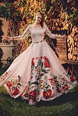 Sukne - sukienka FOLK - srdiečko - 8669281_