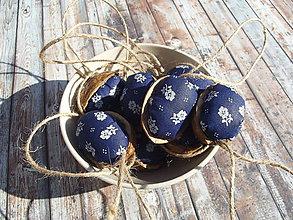 Dekorácie - oriešky modrotlač (modrá) - 8671690_