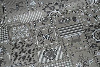 Textil - Látka Patchwork vidiek natur - 8670153_