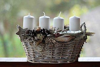 Dekorácie - Adventný svietnik - 8670965_