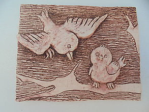Obrázky - Vtáčiky reliéf -- keramika - 8671560_