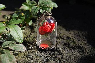 Náhrdelníky - Ruža za sklom - 8671716_