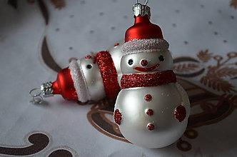 Dekorácie - Figúrka snehuliak - 8671779_
