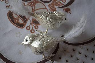 Dekorácie - Vtáčik v bielom - 8671891_