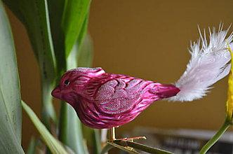 Dekorácie - Vtáčik v ružovom - 8671902_