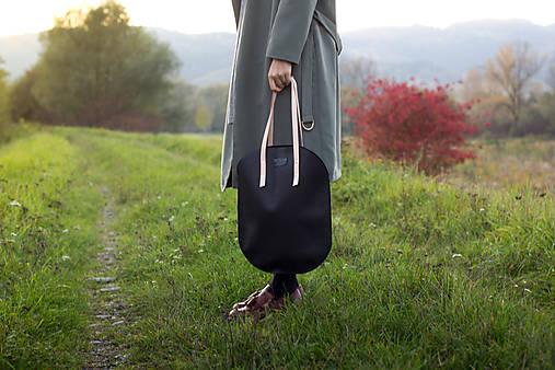 Veľké tašky - Kožená taška_ovál - 8669636_
