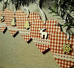 Drobnosti - Vianočné srdiečka - 8669128_