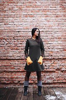Šaty - Oversize šaty na dojčenie Army - 8669829_