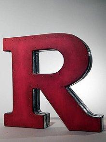 """Dekorácie - Dekoratívne písmeno """"R"""" červené 1 - 8669400_"""
