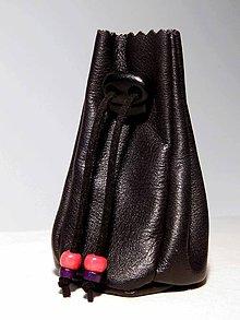 Peňaženky - meštek kožený čierny - 8669412_