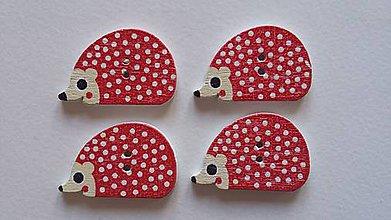 Galantéria - Gombík drevený ježko - 8669989_