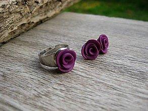 Sady šperkov - Fialovo orgovánové ruže - sada č.1382 - 8671038_