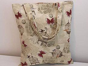 Nákupné tašky - ...klietky a motýle... - 8669612_