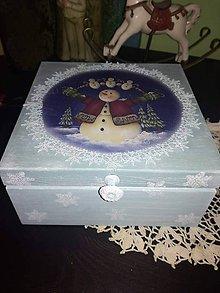 Krabičky - so snehuliakom.. - 8671305_