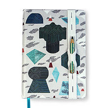 Papiernictvo - Tajuplný smaragdový ostrov (Zápisník A6) - 8671406_