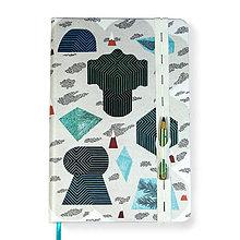 Papiernictvo - Zápisník A5 Tajuplný smaragdový ostrov - 8671420_