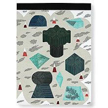Papiernictvo - Skicár Tajuplný smaragdový ostrov (Skicár B4) - 8671426_