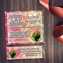 Papiernictvo - Realistické svadobné oznámenia a pozvánky k svadobnému stolu (1 (bubliny)) - 8669274_