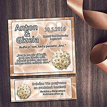 Papiernictvo - Realistické svadobné oznámenia a pozvánky k svadobnému stolu (4 (bubliny)) - 8669442_