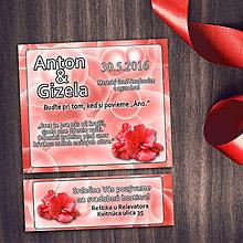 Papiernictvo - Realistické svadobné oznámenia a pozvánky k svadobnému stolu (5 (bubliny)) - 8669748_