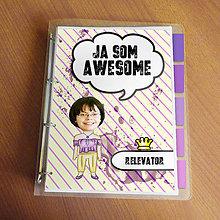 "Papiernictvo - Ja som awesome ,,všetkozošit"" (pásiky a machule - bezstarostná) - 8672470_"