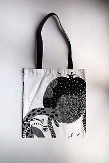 Nákupné tašky - Nákupná taška   Čierno-biela   Malá   Vzory I - 8674305_