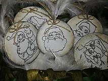 Dekorácie - Drevené vianočné ozdoby - 8677158_