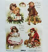 - Ryžové papiere na decoupage A4 - R774 - Vianoce, dievčatko - 8673693_