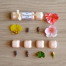 Svietidlá a sviečky - Kvetinový sen - vonný vosk - silice - 8675592_