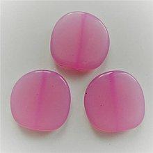 Korálky - MILK plast 23mm-1ks - 8675561_