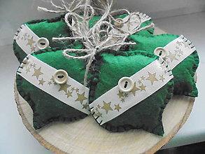 Dekorácie - Zelené vianočné retro ozdoby - 8673876_