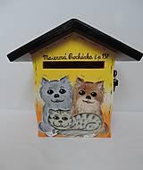 Dekorácie - Poštovní schránka-pes a kočka II - 8677570_