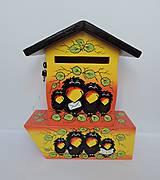 Dekorácie - Poštovní schránka s tubou na noviny-havran - 8677622_