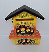 Dekorácie - Poštovní schránka s tubou na noviny-havran - 8677623_