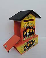 Dekorácie - Poštovní schránka s tubou na noviny-havran - 8677625_