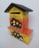 Dekorácie - Poštovní schránka s tubou na noviny-havran - 8677626_