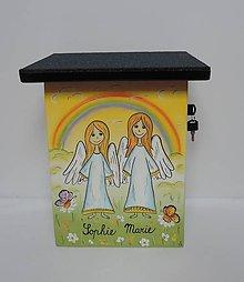 Dekorácie - Poštovní schránka-andělé - 8674831_