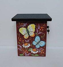 Dekorácie - Poštovní schránka-motýl - 8676476_