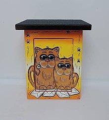 Dekorácie - Poštovní schránka-dvě kočičky okaté - 8676671_