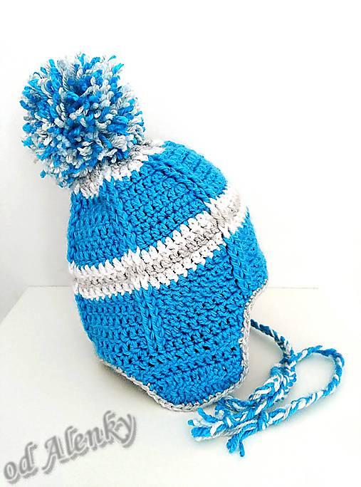 cfff2b3c4 Zimná ušianka / crochet_alca - SAShE.sk - Handmade Detské čiapky