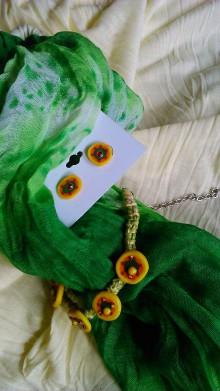 Sady šperkov - Zeleno-žltý svet - 8672761_