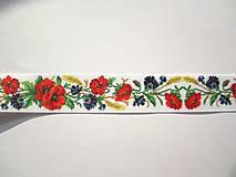 Galantéria - Rypsová stuha 25 mm- lúčne kvety - 8674128_