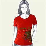 - Maľované tričko Lúčne kvety - Meadow Flowers - 8676581_